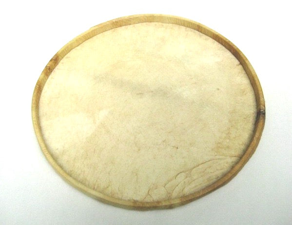 Bottom view of the goat skin terceira drum head.