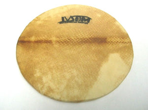Goat skin surdo head with wooden hoop. IVSOM logo stamp on natural skin head.