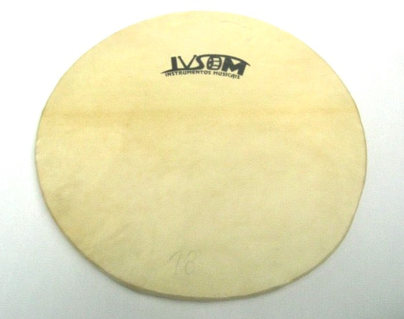 Primera drum head. Goat skin drum head with wooden hoop.