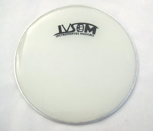 "Repique drum head. 10"" white plastic drum head. Brazilian style low depth."