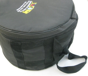 "12"" Repique drum bag handle. Black nylon bag with colorful IVSOM logo."