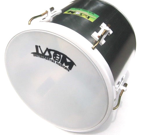 "12"" repique de mão with white metal hardware on aluminum shell."