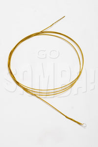 coiled up caixa string. Used on Brazilian samba drums called caixas.