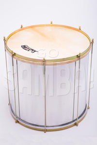 "Surdo, IVSOM, aluminum shell, skin and nylon head, 20"" x 20"""