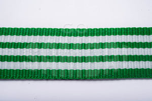 Green and white strap material for Macapart shoulder strap.