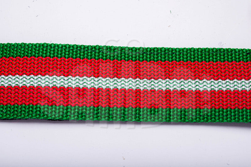 Multicolored strap material for Macapart shoulder strap.