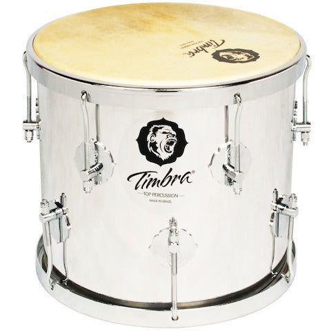 "Timbra repique de anel 10"" goat skin heads. Aluminum shell and lugs."
