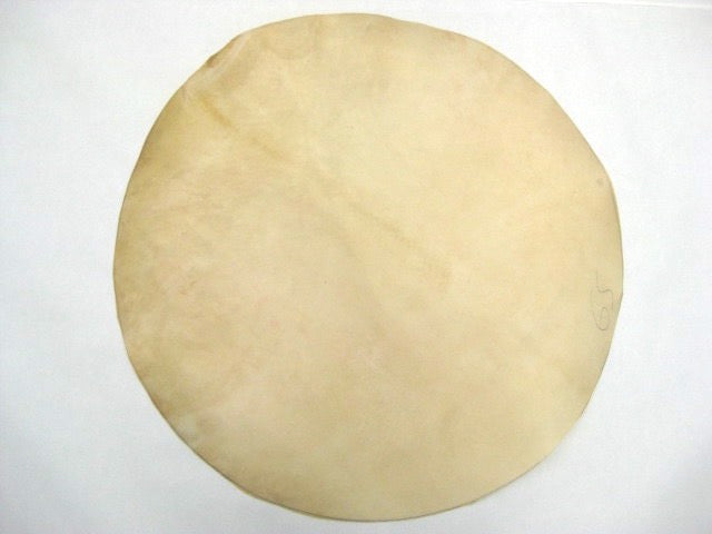Goat skin drum head, no hoop, just plain goat skin. Meant for use with Brazilian alfaia drums used in Maracatu drumming.