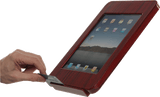 woodgrain ipad kiosk