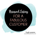 Reserved Listing for Angelika