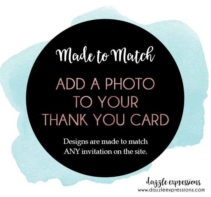 Add a Photo to your Thank You Card