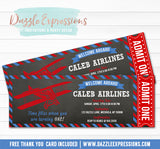 Airplane Chalkboard Ticket Invitation - FREE thank you card