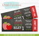Apple of Our Eye Ticket Invitation - FREE thank you card