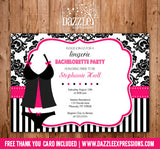 Bachelorette Party Invitation 4 - Thank You Card Included