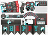 Bowling Chalkboard Party Package - Printable