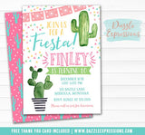Cactus Birthday Invitation 1 - FREE thank you card