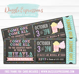 Carnival Chalkboard Ticket Invitation 3 - FREE thank you card