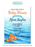 Clown Fish Baby Shower Invitation - FREE thank you card included