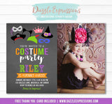 Costume Party Chalkboard Invitation 2 - FREE thank you card
