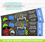 Costume Party Ticket Invitation 5 - FREE thank you card