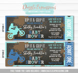 Dirt Bike Chalkboard Baby Shower Ticket Invitation - FREE thank you card