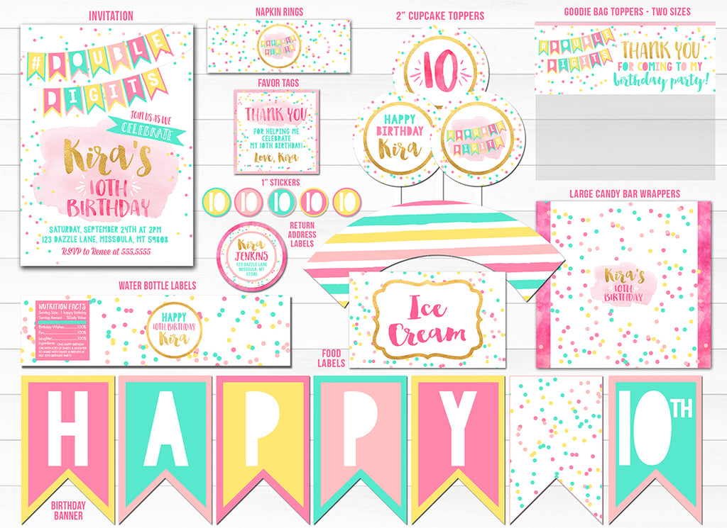 Double Digits Complete Party Package