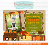 Fall Festival Invitation 1 - FREE thank you card