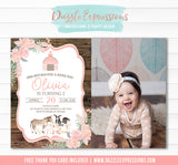 Farm Watercolor Invitation 4 - FREE thank you card
