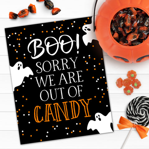 FREE Out of Candy Sign