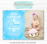 Frozen Inspired Invitation 2 - FREE thank you card