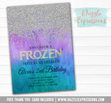 Frozen Inspired Invitation 3 - FREE thank you card