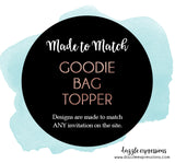 Goodie Bag Topper Labels