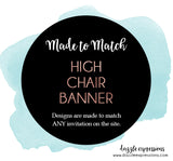 High Chair Banner