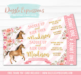 Horse Ticket Invitation - FREE Thank you card included
