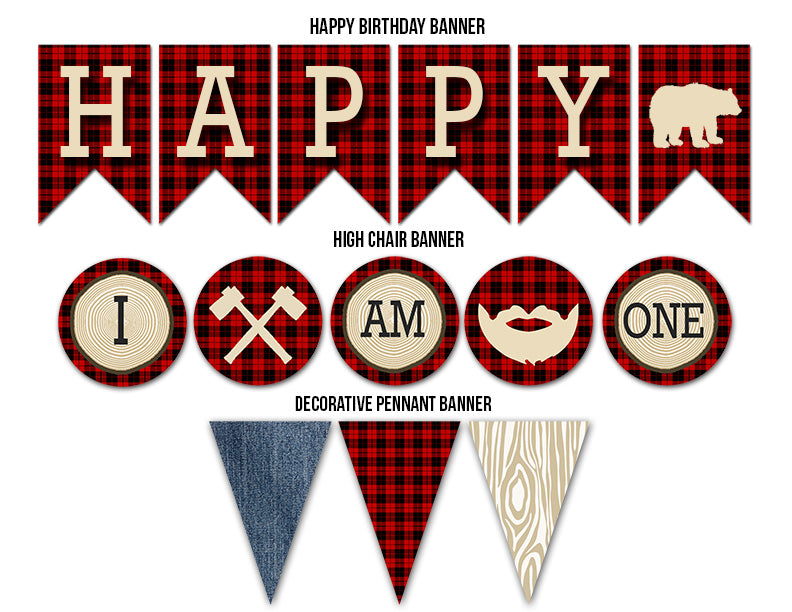 Lumberjack Complete Party Package - Printable