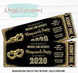 Masquerade New Years Eve Ticket Invitation 2