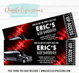 Party Bus Ticket Invitation 2 - FREE thank you card included
