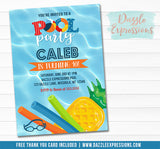 Pool Float Invitation 2 - FREE thank you card