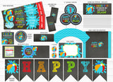 Pool Party Chalkboard Complete Party Package - Printable