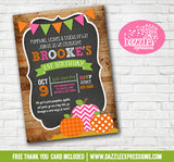 Pumpkin Patch Chalkboard Invitation 3 - FREE thank you card
