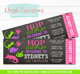Reptile Chalkboard Ticket Invitation 2 - FREE thank you card