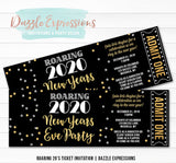 Roaring 20's New Years Eve Ticket Invitation