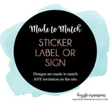 Sticker, Label or Sign