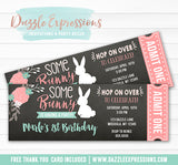 Bunny Chalkboard Ticket Invitation - FREE thank you card