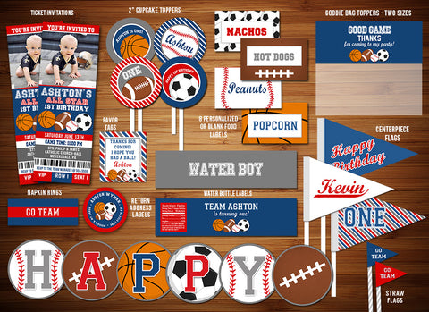 All Star Sports Complete Party Package