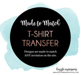 T-Shirt Transfer - Printable