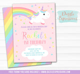 Unicorn Birthday Invitation 15 - FREE thank you card