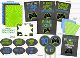 Video Game Chalkboard Party Package - Printable