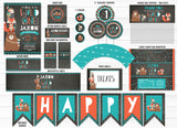 Wild One - Tribal Woodland Chalkboard Complete Party Package 1 - Printable