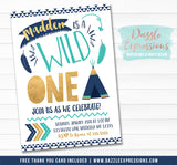 Wild One Invitation 17 - FREE thank you card